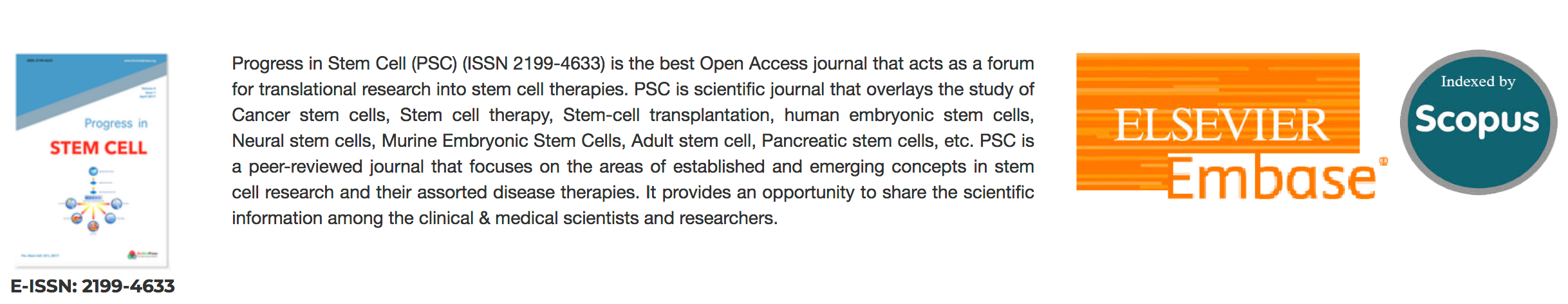 Two Scientific Journals of the Stem Cell Institute, VNUHCM